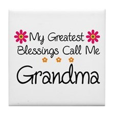 Blessings Grandma Tile Coaster