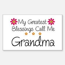 Blessings Grandma Decal
