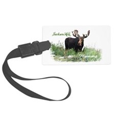 Jackson Hole WY Moose Luggage Tag