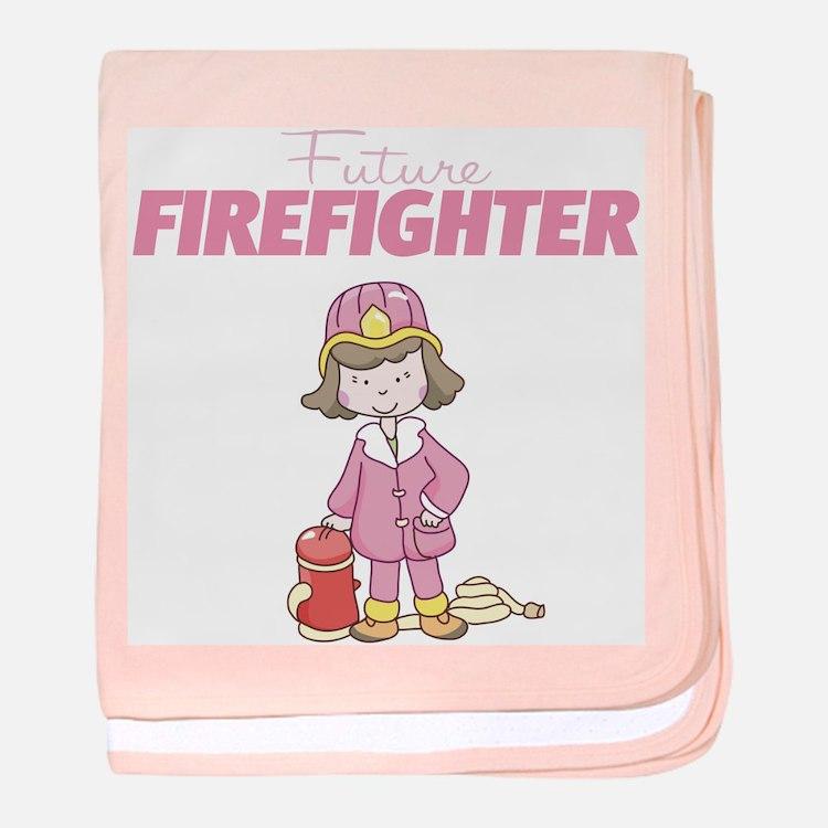 Future Firefighter baby blanket