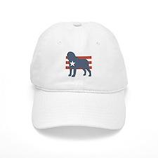 Patriotic Saint Bernard Baseball Cap