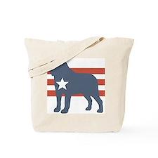 Patriotic Saint Bernard Tote Bag