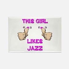 This Girl Likes Jazz Rectangle Magnet
