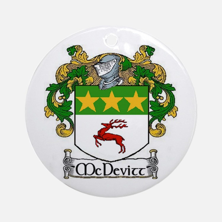 McDevitt Coat of Arms Ornament (Round)