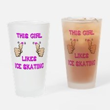 This Girl Likes Ice Skating Drinking Glass