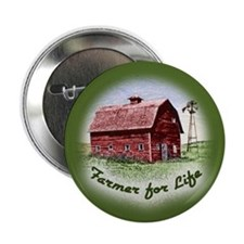 Farmer for Life Button