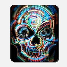 neon skull Mousepad