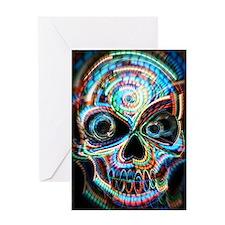 neon skull Greeting Card