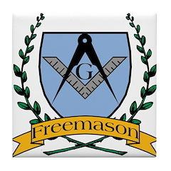 Free Mason Crest Tile Coaster