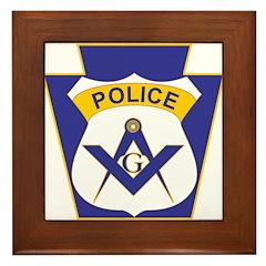 Masonic Police Officer Framed Tile