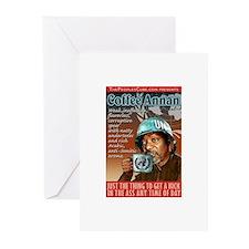 Kofi Annan Coffee Annan Greeting Cards (Package of