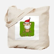 Christmas Monkey Tote Bag