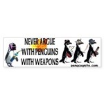 Penguins with Weapons Bumper Sticker