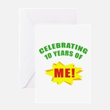 Celebrating Me! 10th Birthday Greeting Card