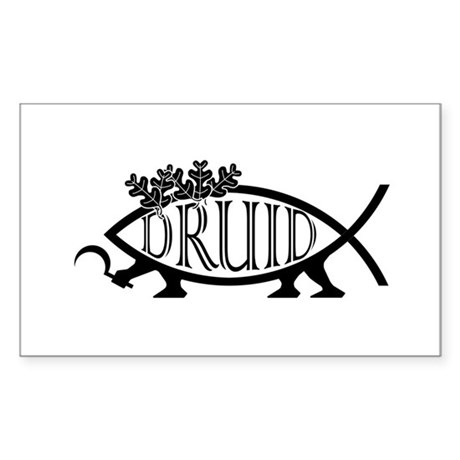 Druid Fish Rectangle Sticker
