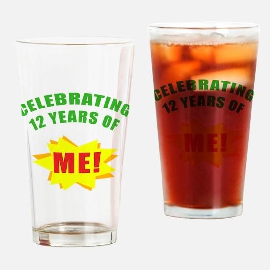 Celebrating Me! 12th Birthday Drinking Glass