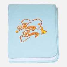 Cute Honey bunny baby blanket