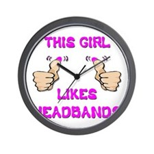 This Girl Likes Headbands Wall Clock