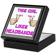 This Girl Likes Headbands Keepsake Box