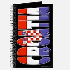 Word Art Flag of Croatia Journal
