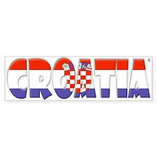 Word Art Flag of Croatia Bumper Bumper Sticker