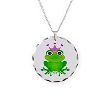Purple Crown Frog Prince Necklace