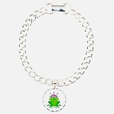 Purple Crown Frog Prince Bracelet