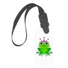 Purple Crown Frog Prince Luggage Tag