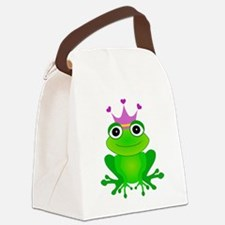 Purple Crown Frog Prince Canvas Lunch Bag