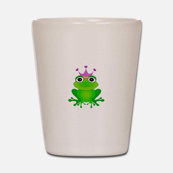 Purple Crown Frog Prince Shot Glass