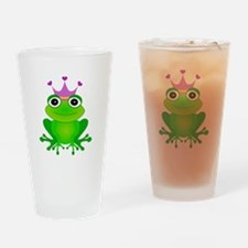 Purple Crown Frog Prince Drinking Glass