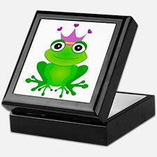 Purple Crown Frog Prince Keepsake Box