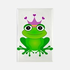 Purple Crown Frog Prince Rectangle Magnet
