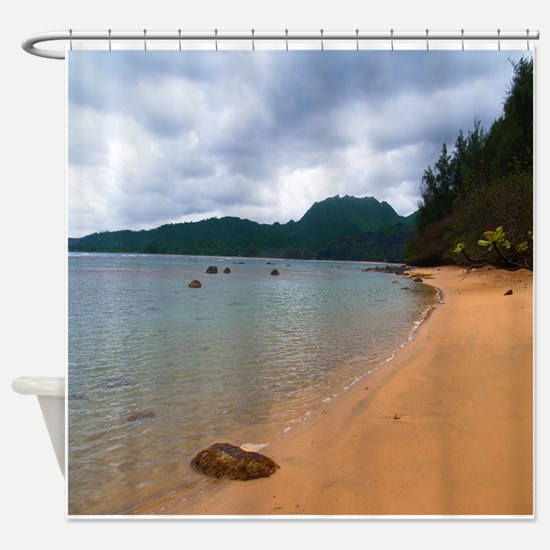 Kauai Hanalei Bay Beach Shower Curtain