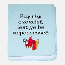 Pay Thy Exorcist baby blanket