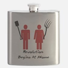 Revolution Begins At Home Flask