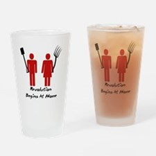 Revolution Begins At Home Drinking Glass