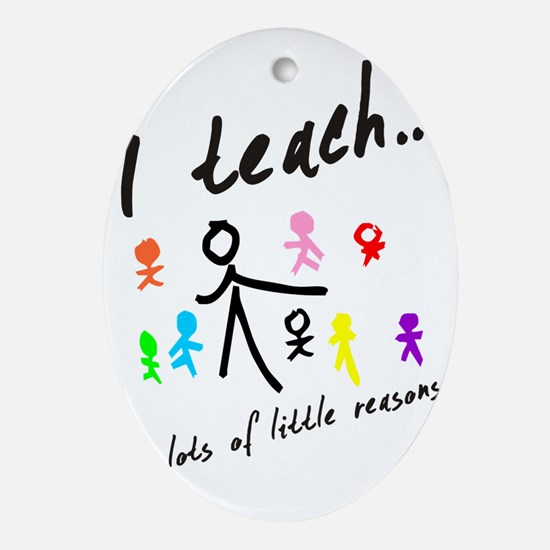 Teacher Oval Ornament