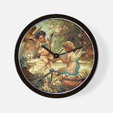 Victorian Angels by Zatzka Wall Clock