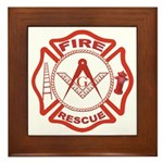 Masonic Fire and Rescue Framed Tile