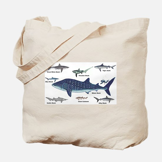 Shark Types Tote Bag