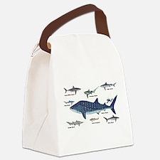 Shark Types Canvas Lunch Bag