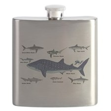 Shark Types Flask