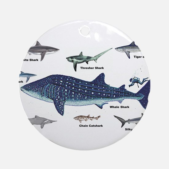 Shark Types Ornament (Round)
