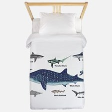 Shark Types Twin Duvet