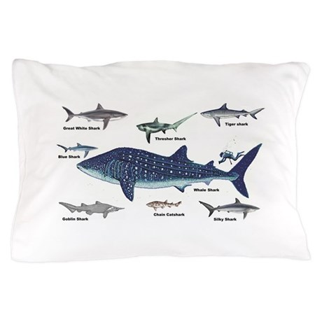 Shark Types Pillow Case by bestsellingts