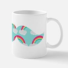 Rainbow Mustache Small Mug