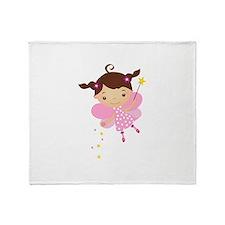 Little Fairy 4 Throw Blanket