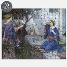 Annunciation by JW Waterhouse Puzzle