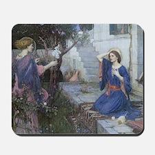 Annunciation by JW Waterhouse Mousepad